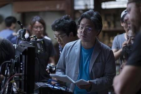 Park Chan-wook en el rodaje de La Doncella