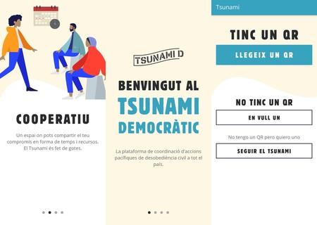 Tsunami Democràtic, así es la app de las protestas independentistas: con sistema 'Retroshare' y códigos QR basados en la ubicación