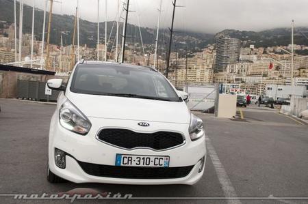 Kia Carens 2013, presentación y prueba en Mónaco