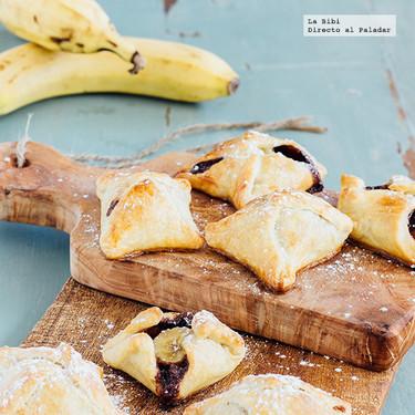 Hojaldres de plátano y Nutella. Receta