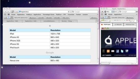 Resize, extensión para Safari útil para diseñadores web