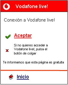 El acceso por error a Vodafone live será gratuito