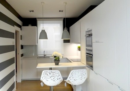 Blanco y gris, una mezcla refrescante de colores para la cocina