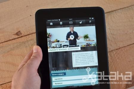 Kindle Fire HD análisis pantalla con aplicación