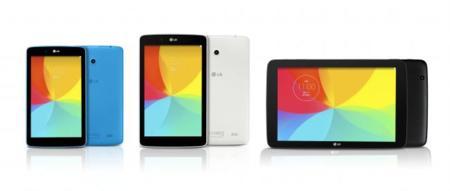 LG adelanta las diagonales de sus próximos tablets: 7, 8 y 10.1 pulgadas