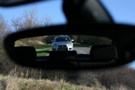 Mitsubishi Evo X policía