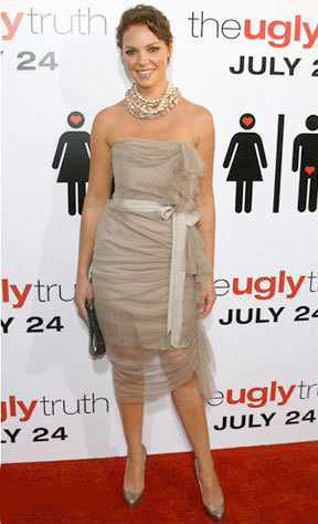 Katherine Heigl en la premiere de The Ugly Truth