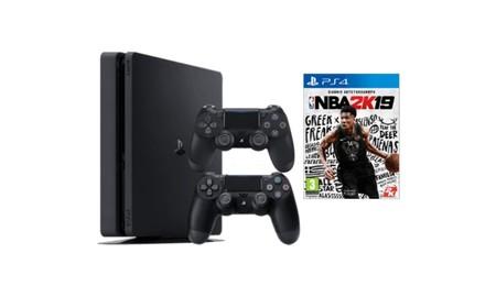 Más barato todavía: la Red Night de MediaMarkt nos trae el basket de NBA 2K19 con la PS4 de 1 TB con dos mandos por sólo 339 euros