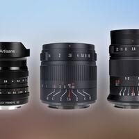 7artisans 10 mm f/2.8, 55 mm f/1.4 II y 60 mm f/2.8 II, nuevos objetivos de bajo coste para sin espejo de sensor recortado y full frame