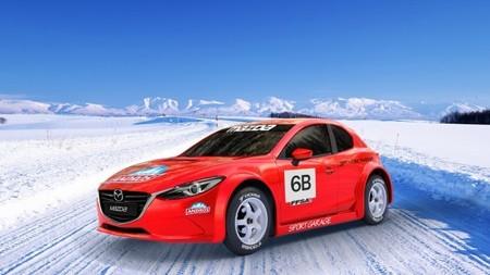 Curiosidades en competición: un Mazda3 sobre la nieve y el hielo