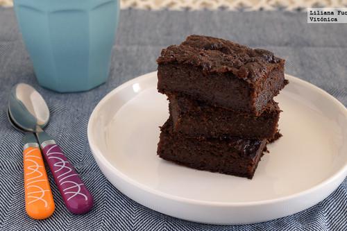 Brownie fitness jugoso: receta saludable sin gluten, sin lactosa y sin azúcar