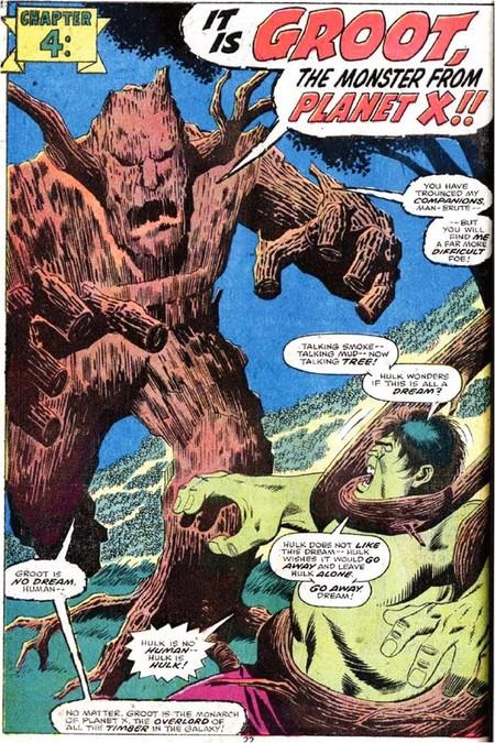 Groot contra Hulk