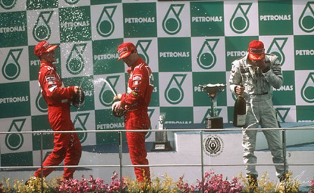 Podio GP Malasia F1 1999