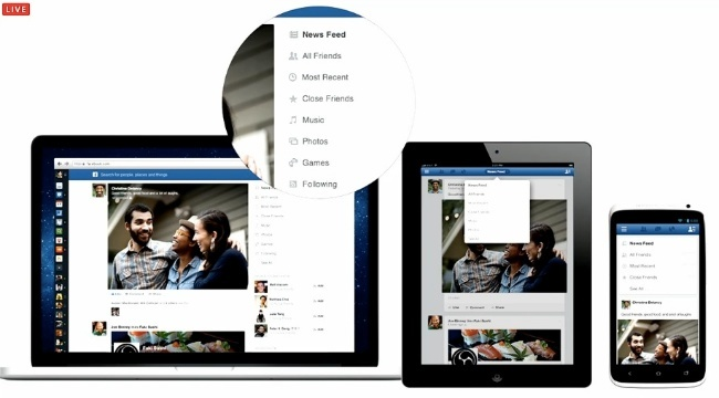 facebook nueva barra diseño