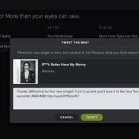 Spotify quiere que twittees a los artistas para darles las gracias