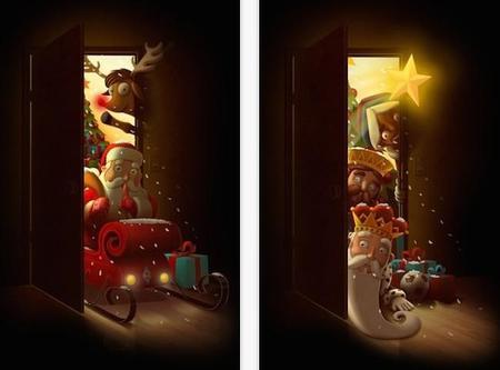 SantApp, una genial aplicación que recrea la visita de Papá Noel o los Reyes Magos en tu salón