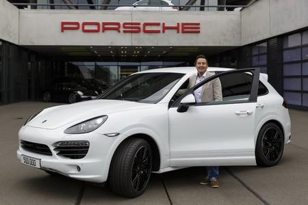 'Willkommen in der Welt', Porsche Cayenne número 500.000