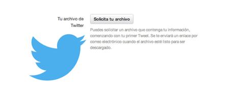 Twitter en español ya permite la descarga de todos nuestros tweets