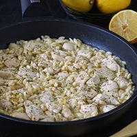 Pollo al limón con gurullos: receta de mi versión del risotto murciano