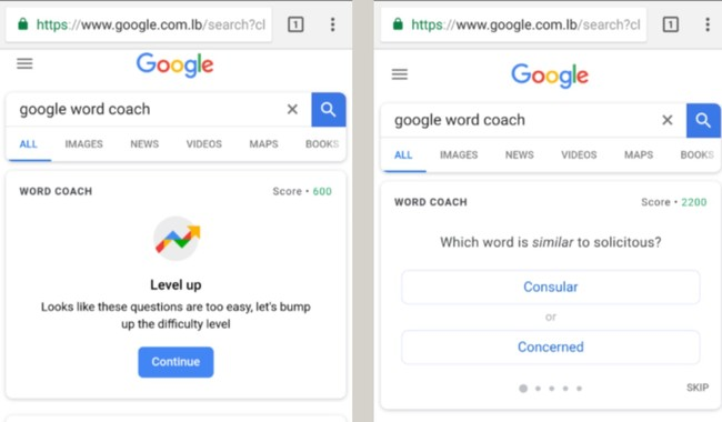 Window Y Google Word Coach Tests Your Vocabulary Knowledge In Bite Sized Questions
