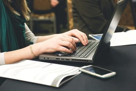 Woman Typing Writing Windows