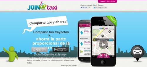 JoinUpTaxi,laaplicaciónparamóvilesquenospermitepedirycompartirtaxi