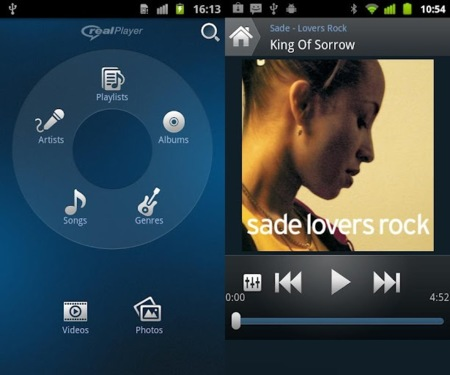 RealPlayer aterriza en Android