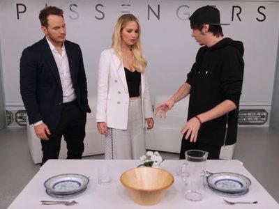 La entrevista de ElRubius a Jennifer Lawrence es indistinguible de un programa de El Hormiguero