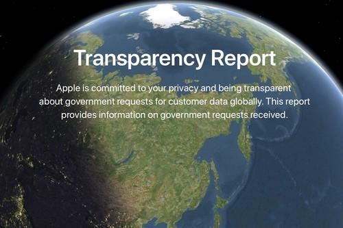 Apple publica las peticiones de transparencia para la primera mitad de 2018 y renueva la web