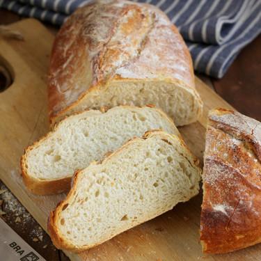 Pan rústico de trigo. Receta de pan casero fácil y rápido