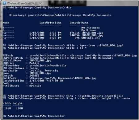Accede a Windows Mobile desde PowerShell