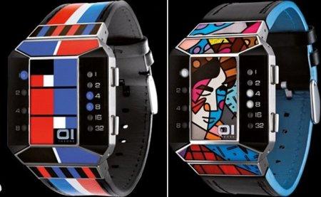 The One: relojes binarios de divertidos diseños
