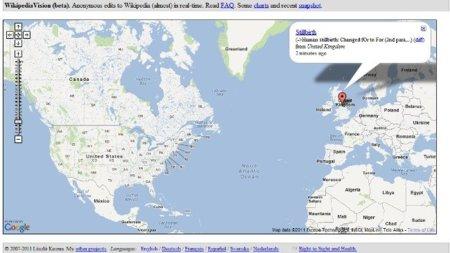 Visualiza los cambios que se hacen en Wikipedia en tiempo real con Wikistream y WikipediaVision