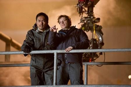 Gareth Edwards con Ken Watanabe