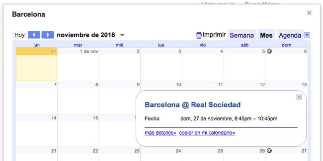 Calendarios Interesantes