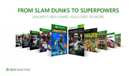 Xbox Game Pass Enero