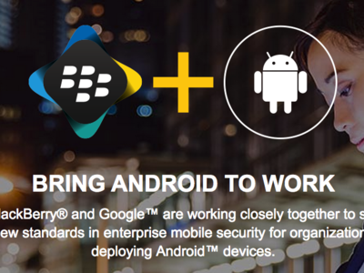 BlackBerry y Google anuncian BlackBerry Enterprise