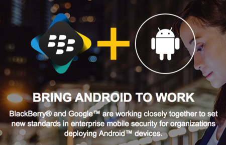 BlackBerry y Google anuncian BlackBerry Enterprise