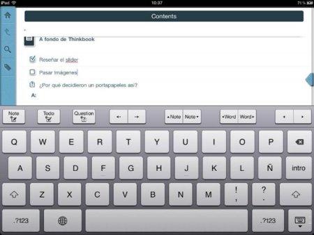 ThinkBook, aprovechando todo el potencial de gestos para tomar notas y organizar ideas y esquemas