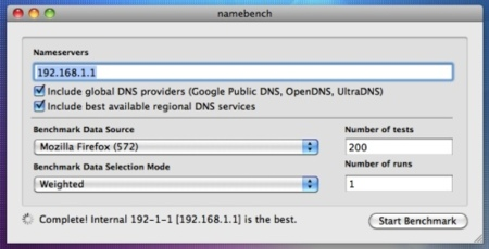 Namebench, testea y elige el mejor servidor DNS para ti