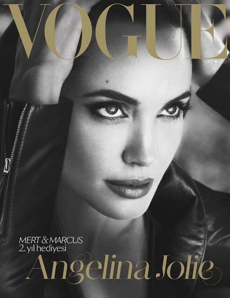 Angelina Jolie pasa de la alfombra roja a la portada de Vogue Turquía