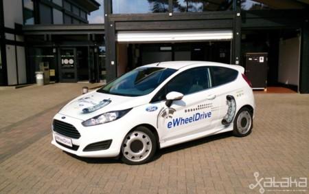 Probamos en Bélgica el Ford con motores eléctricos en rueda