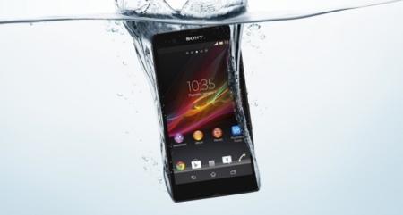 Sony Xperia Z en agua