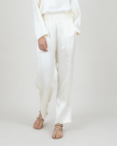 Pantalón palazzo de mujer largo en tela satinada