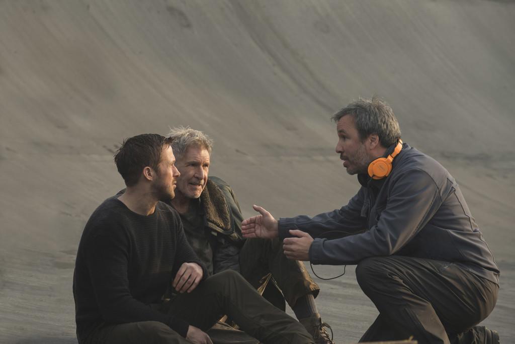 Denis Villeneuve con Ryan Gosling y Harrison Ford