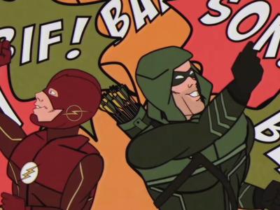 'Arrow' y los superhéroes de CW como si fuesen la 'Batman' de los 60 en la imagen de la semana