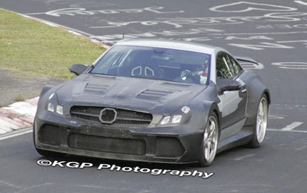 Mercedes-Benz SL 63 AMG Black Series cazado