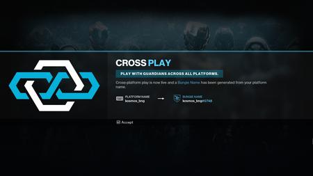 Destiny 2 se prepara para introducir el juego cruzado, y con él, llegan los nombres de Bungie, una interfaz renovada y más