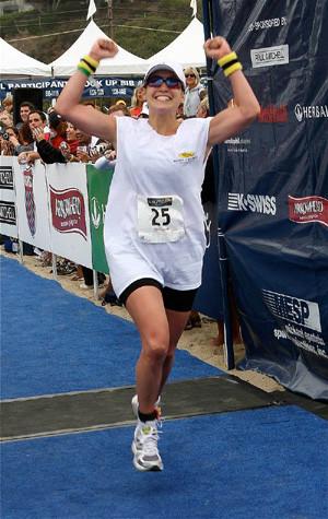 Y Jennifer completó el triatlón