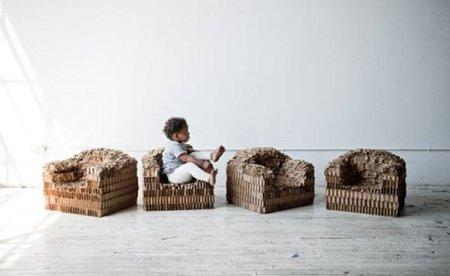 Asientos de cartón para niños, totalmente reciclables